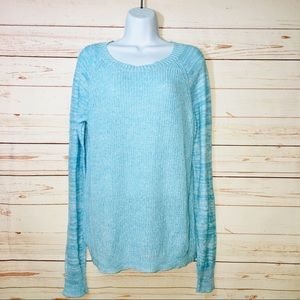 Mossimo Supply Co. Blue Pullover Knit Sweater LG
